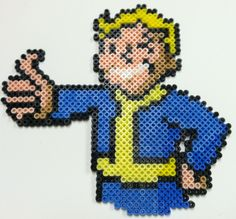 Fallout Guy perler beads by thewiredslain on deviantart