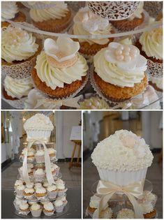 Biało - kremowy tort z babeczek. - Słodka Pracownia - Przepisy | Dekoracje | Przyjęcia