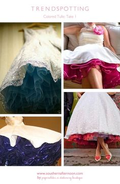 No matter what you call them--crinoline, petticoat, underskirt, slip--the little flash of color is so much fun..