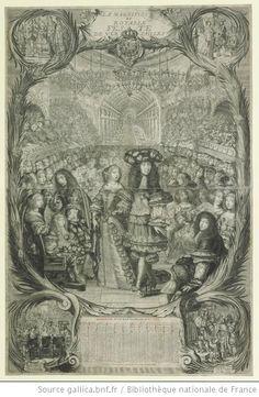 Philippe duc d'Orleans, Monsieur (1640-1701) and Henriette-Anne of England d'Orleans (1644-1670), in LA MAGNIFIQVE / ET / ROYALLE / FES - TE / DE VER - SAILLES, 1669, French school