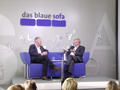 Anthony McCarten auf dem Blauen Sofa | FBM 10.10.12 by Das blaue Sofa, via Flickr Ladies Night, Anthony Mccarten, Plymouth, Sofa, Home Decor, Names Of God, Blue, Settee, Decoration Home