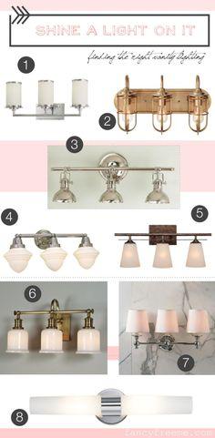 Making Selections: bathroom vanity lighting || FancyFreeMe