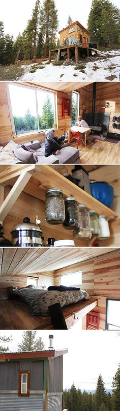 A 196 sq ft home in Tahoe, California, that is 100% off-grid