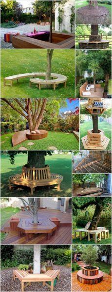 Deck Around Trees, Landscaping Around Trees, Backyard Landscaping, Landscaping Ideas, Backyard Projects, Backyard Patio, Backyard Ideas, Back Gardens, Outdoor Gardens