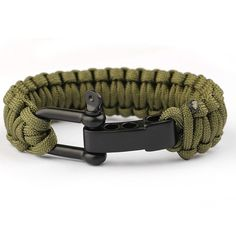 Stainless Steel Braided Paracord Survival Bracelets [4 Variants]