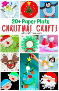 Have fun with wonderful Paper Plate Christmas Crafts. With over 20 great Christmas craft ideas to choose they're a great way to enjoy kids crafts all through the holidays. Paper plate crafts are such fun! Paperplate Christmas Crafts, Santa Crafts, New Year's Crafts, Nativity Crafts, Holiday Crafts, Fun Crafts, Spring Crafts, Paper Plate Art, Paper Plate Crafts