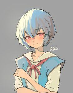 Neon Genesis Evangelion, Rei Ayanami, Mecha Anime, Ecchi, Anime Style, Anime Characters, Anime Art, Character Design, Sketches