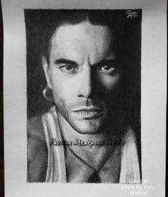 Leo Jimenez pencil portrait by Paulina Medepona Arts