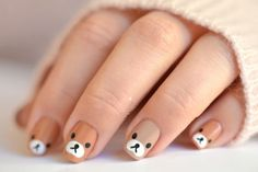Nail Art Designs 💅 - Cute nails, Nail art designs and Pretty nails. Baby Nail Art, Nail Art For Kids, Baby Nails, Nail Art Diy, Art Kids, Dog Nail Art, Cute Acrylic Nails, Cute Nails, Gel Nails