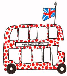 Red Bus Print | Steph Loves to Draw