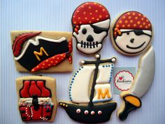 Pirate Cookies, Cookieria By Margaret,biscoito decorado, bolacha decorada