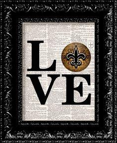 New Orleans Saints NOLA LOVE NFL Football