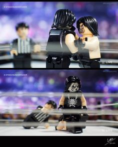 """WrestleLegoMania  Main Event/The Undertaker vs Sting - Part 4 of 7  [Jim Ross] """"The Undertaker is in full control right now. He takes Sting to a corner and delivers a series of punches to the body and one final blow to the head. The crowd is going wild and look at this Sting is daring The Undertaker to attack. He can barely stand right now but he is challenging the Dead Man to carry on with the assault!"""" [The King] """"I don't know how smart this is JR."""" [Jim Ross] """"The Undertaker delivers one…"""
