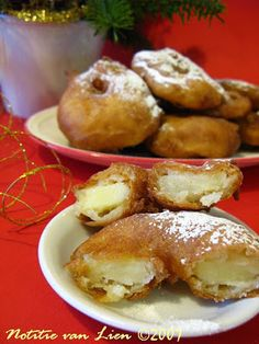 Dutch Food. Appelflappen. Applebeignets. A traditional treat for New Years Eve.
