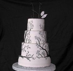 Painted Tree Wedding Cake | by EForkey (formerly EB Cakes)