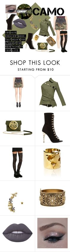 """""""Standing Up"""" by mocking-birdie on Polyvore featuring Yves Saint Laurent, A.W.A.K.E., Dareen Hakim, Balmain, Artelier by Cristina Ramella, Chanel, Lime Crime, standup, authentic and camostyle"""