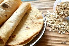 Oats roti/flatbread using Oats flour and Oat bran