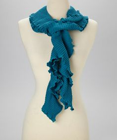 Another great find on #zulily! Mystic Blue Frilly Scarf by Nomadic Traders #zulilyfinds