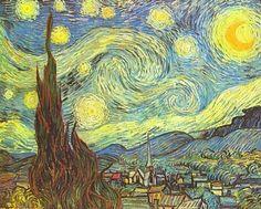 Sternennacht' von Vincent van Gogh http://www.kunstbilder-galerie.de/kunstdrucke/vincent-van-gogh-bild-2853.html
