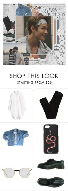 """""iTS FiNE NOT TO BE FiNE"""" by siouan ❤ liked on Polyvore featuring H&M, Été Swim, American Eagle Outfitters, GUESS, Gucci, Chanel, Dr. Martens, Harry Allen, men's fashion and menswear"