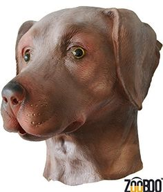 The chocolate labrador Dog is great for Parties, Pranks, Sporting events, Pep Rallys, Music festivals, Halloween, Or just to have a good time. Super Creepy and just outright Distur