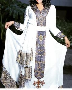 Habesha Kemis, Ethiopian Traditional Dress, Ethiopian Dress, Traditional Clothes, Africa Fashion, Looking For Women, Beautiful Dresses, Jewlery, Clothes For Women