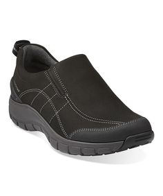 Love this Black Wave Brook Leather Slip-On Shoe on #zulily! #zulilyfinds