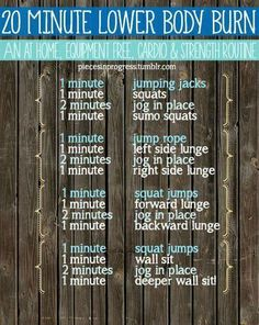 20 Minute Lower Body Burn - Equipment Free!!