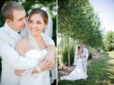 bride and groom tree line