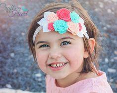 Fieltro plumas diadema Girly Girl capas por PACraftsfromtheHeart