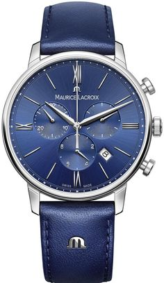 @mauricelacroix Watch Eliros Chronograph #add-content #basel-16 #bezel-fixed #bracelet-strap-leather #brand-maurice-lacroix #case-material-steel #case-width-40mm #chronograph-yes #date-yes #delivery-timescale-call-us #dial-colour-blue #gender-mens #luxury #movement-quartz-battery #new-product-yes #official-stockist-for-maurice-lacroix-watches #packaging-maurice-lacroix-watch-packaging #style-dress #subcat-eliros #supplier-model-no-el1098-ss001-410-1…