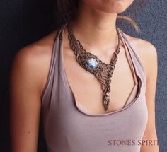 New 天然石マクラメネックレス|天然石×マクラメアクセサリーSTONES SPIRIT