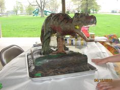 T-Rex cake I made for my great nephew's B-Day