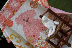 Happy Birthday Quilt for your Wall, Table or Toddler by Coach House Designs