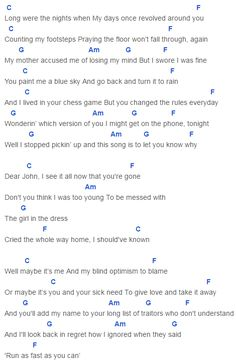 Speak Now, Taylor Swift Dear John Chords Lyrics for Guitar Ukulele Piano Keyboard with Strumming Pattern on Standard No capo, Tune down and Capo Version. Im Yours Ukulele Chords, Easy Ukulele Songs, Guitar Chords And Lyrics, Ukulele Tabs, Guitar Songs, Song Lyrics, Taylor Swift Dear John, Taylor Swift Quotes, Piano Music