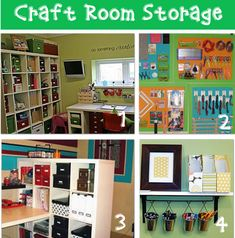 CRAFT ROOM STORAGE {BEFORE AND AFTER}        by Laurie  12 craft room storage ideas with before and after pictures that will help you design the craft room of your dreams!