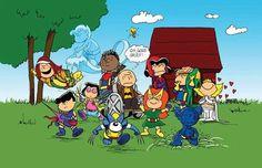"""X-men por Peanuts"" por Cynthia Rodgers http://theamat.deviantart.com/"
