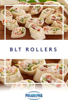 All the classic flavors of a BLT rolled up in a tortilla for an easy party-perfect bite. Ready in only 15 minutes, appetizers rarely get easier than this. Appetizer Recipes, Keto Recipes, Appetizers, Cooking Recipes, Healthy Recipes, Blt Roll Ups, Comida Baby Shower, Sandwiches, Onigirazu