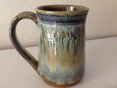 Stoneware mug Ceramic coffee cup Handmade by CharlotteLeePottery, $24.00