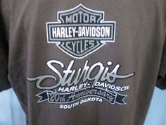 Harley-Davidson Brown 2X T-Shirt Sturgis South Dakota Cotton