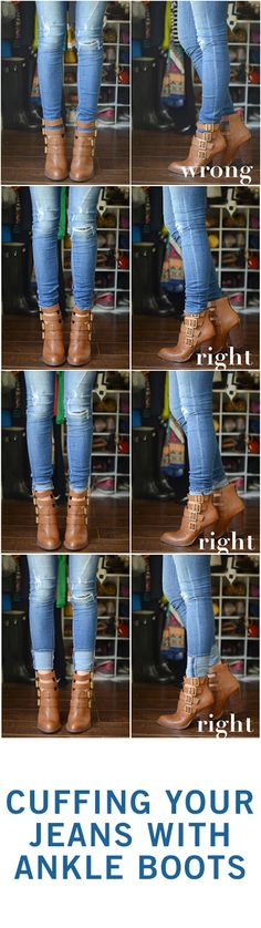 Rock those ankle boots and jeans by learning the right way to cuff them. You'll be the most stylish mom at the playground!