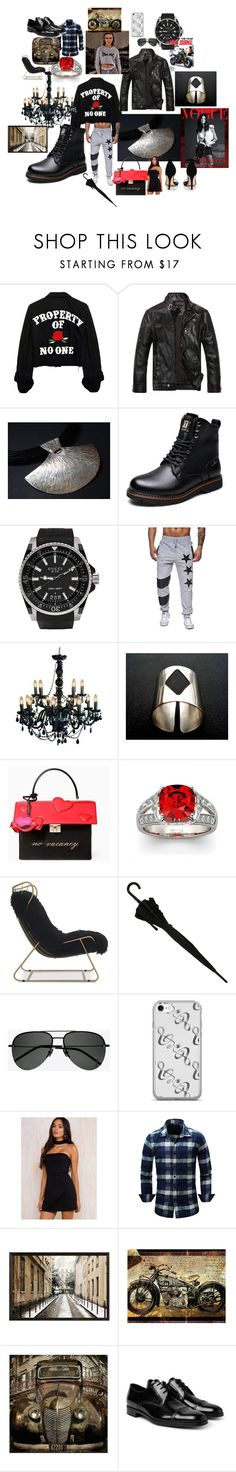 """""""Eclectic"""" by rosshandmadecrafts on Polyvore featuring Gucci, Kate Spade, Mitchell Gold + Bob Williams, Yves Saint Laurent, Pottery Barn, Prada and Boohoo"""