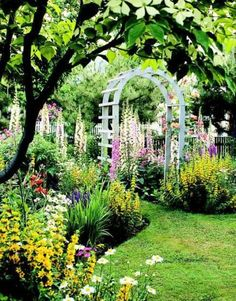 20 Secrets to Landscape Success Think way ahead It's sunny now, but will it be in a few years? Once the trellis is built, the garden shed goes up and the trees get big, will you still have sunshine where you want it? That sunny wildflower patch you envi Garden Arbor, Garden Archway, Garden Pond, Big Garden, Fruit Garden, Garden Cottage, English Cottage Gardens, My Secret Garden, Dream Garden