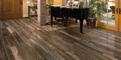 Cool floor options....tile that looks like wood. The greyish color is cool too.