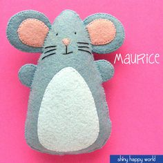 Maurice - Felt Mouse Pattern