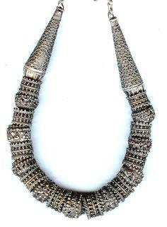 Yemen | Highly granulated silver necklace  | ©Linda Pastorino