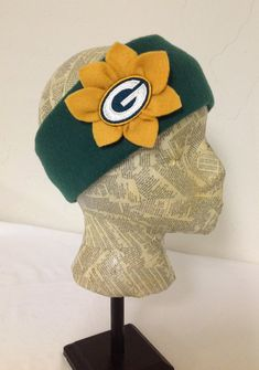 Green Bay Packers Fleece Head Band  Womens by MelloGalleria, $15.00