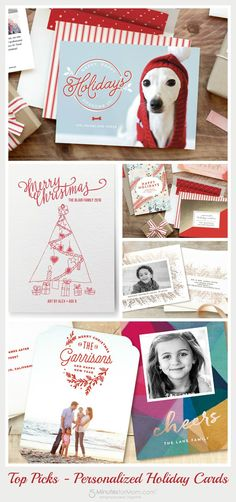 Top Picks - Personalized Holiday Gift Ideas from Minted.  Sponsored | Gift Guide | Christmas