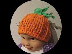 a7d42e2c4b60d DIY Gorra de Calabaza para bebe de 0 a 3meses - YouTube Pumpkin Hat