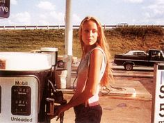 16 year old Jerry Hall on a roadtrip, 1970s